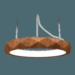 Pendente Anel Facetado Horizontal Imbuia 100x12 - Nicolucci