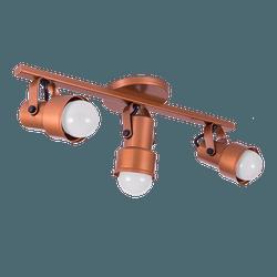 Spot Trilho cobre 3 lampadas - Nicolucci