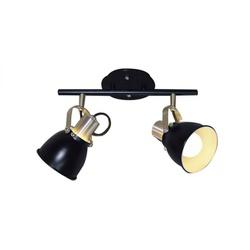 Luminária Spot Trilho Flex Alumínio Preto 2 Lâmpad... - Nicolucci