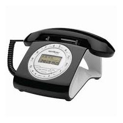 Telefone Com Fio Retrô Intelbras TC 8312 Preto. - Nicolucci