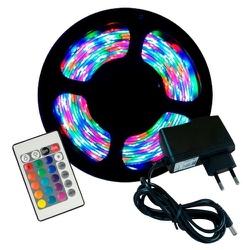 FITA DE LED IP65 5M RGB C/FONTE E CONTROLE - Nicolucci