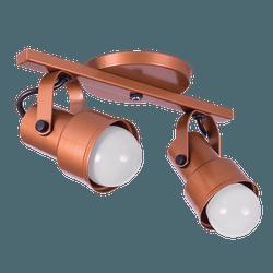 Spot Trilho 2 Lampadas Incolustres - Nicolucci
