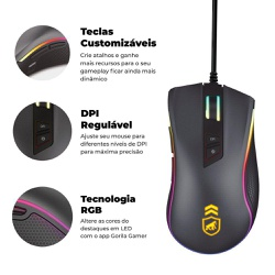 MOUSE GAMER DUAL SHOCK - GSHIELD - Nicolucci