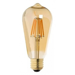 Lâmpada Filamento Led ST64 4W 2200K Vidro Âmbar Bi... - Nicolucci