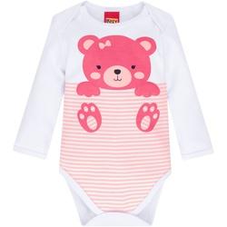 Body Manga Longa Kyly Bebê Feminino Ursinho P-M-G ... - Nilza Baby Kids