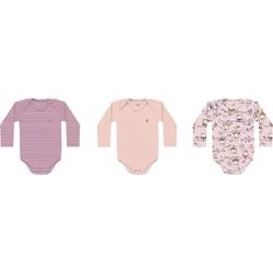 Kit 3 Bodys Manga Longa Kiko Baby Bebê Feminino Ta... - Nilza Baby Kids