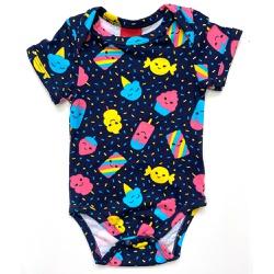 Body Kyly Bebê Feminino Azul - 66102-A - Nilza Baby Kids