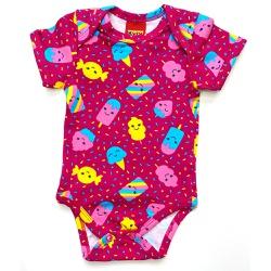 Body Kyly Bebê Feminino Pink - 66102-P - Nilza Baby Kids