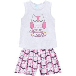 Pijama Kyly Bebê Feminino Estampa Coruja Brilha no... - Nilza Baby Kids