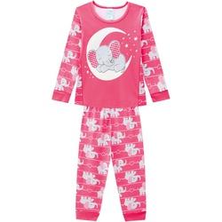 Pijama Manga Longa Kyly Infantil Feminino Elefanti... - Nilza Baby Kids