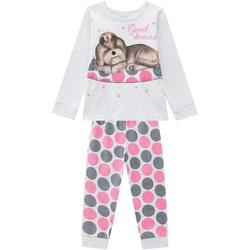 Pijama Manga Longa Kyly Bebê Feminino Cachorrinho ... - Nilza Baby Kids