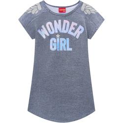 Vestido Kyly Infantil Feminino Moletinho Cinza Mes... - Nilza Baby Kids
