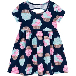 Vestido Kyly Bebê Feminino Estampa Cupcakes - 6595... - Nilza Baby Kids