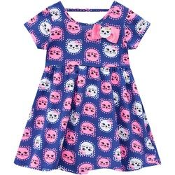 Vestido Kyly bebê Feminino Estampa de Gatinhos Azu... - Nilza Baby Kids