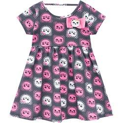 Vestido Kyly Bebê Feminino Estampa de Gatinhos Cin... - Nilza Baby Kids