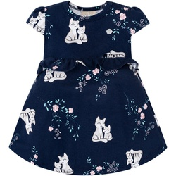 Vestido Milon Bebê Azul Marinho com Body Interno E... - Nilza Baby Kids