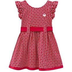 Vestido Milon Bebê Feminino Vermelho Tamanho P ao ... - Nilza Baby Kids