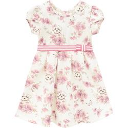 Vestido Milon Bebê Feminino Estampa Cachorrinho e ... - Nilza Baby Kids
