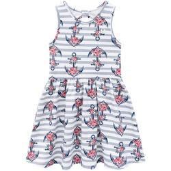 Vestido Milon Infantil Feminino Estampa Âncoras Ta... - Nilza Baby Kids