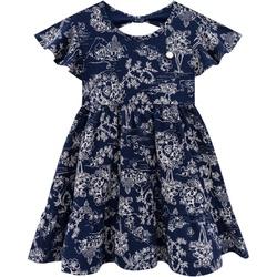 Vestido Milon Infantil Feminino Estampado Azul Mar... - Nilza Baby Kids