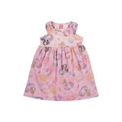 Vestido Dila Bebê Feminino Estampa Sereias Rosa - ... - Nilza Baby Kids