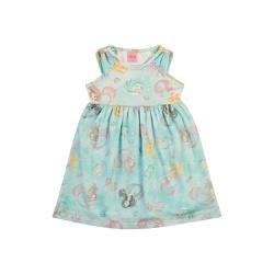 Vestido Dila Bebê Feminino Estampa Sereias - 66553... - Nilza Baby Kids