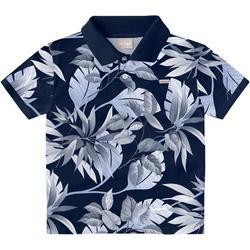 Camiseta Milon Gola Polo Infantil Estampada Azul -... - Nilza Baby Kids