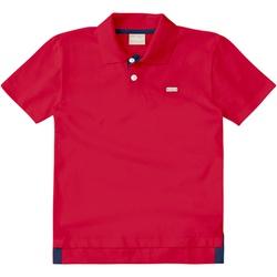 Camiseta Milon Gola Polo Bebê Vermelha - 65657 - Nilza Baby Kids