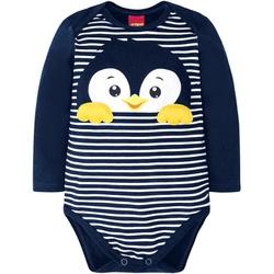 Body Manga Longa Kyly Bebê Masculino Pinguim P - M... - Nilza Baby Kids