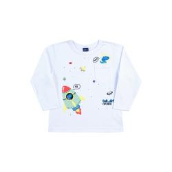 Camiseta Manga Longa Dila Bebê Masculina Dinossaur... - Nilza Baby Kids