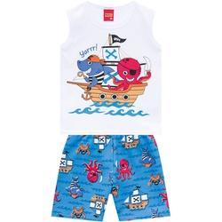Conjunto Kyly Bebê Masculino Piratas - 66600-B - Nilza Baby Kids