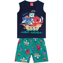Conjunto Kyly Bebê Masculino Piratas - 66600-A - Nilza Baby Kids