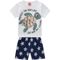 Conjunto Kyly Bebê Masculino Camiseta + Bermuda Ta... - Nilza Baby Kids