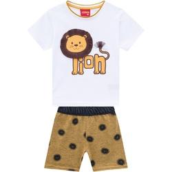 Conjunto Kyly Bebê Masculino Estampa Leãozinho - 6... - Nilza Baby Kids
