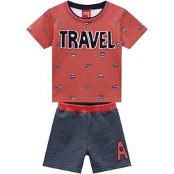 Conjunto Kyly Bebê Masculino Camiseta + Bermuda Mo... - Nilza Baby Kids