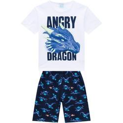 Pijama Kyly Masculino Infantil Camiseta Estampa Dr... - Nilza Baby Kids