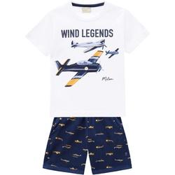 Conjunto Milon Bebê Masculino Estampa Avião - 6623... - Nilza Baby Kids