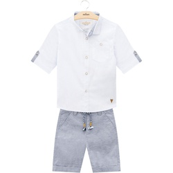 Conjunto Milon Bebê Masculino Camisa + Bermuda - 6... - Nilza Baby Kids