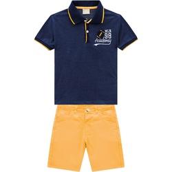 Conjunto Milon Bebê Masculino Camiseta Gola Polo e... - Nilza Baby Kids