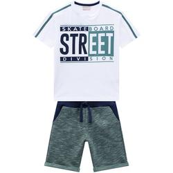 Conjunto Milon Infantil Masculino Camiseta + Bermu... - Nilza Baby Kids