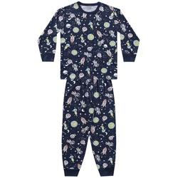 Pijama Fakini Infantil Masculino Camiseta Manga Lo... - Nilza Baby Kids