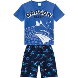 Pijama Kyly Bebê Masculino Camiseta Dragão em Rele... - Nilza Baby Kids