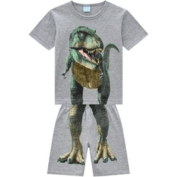 Pijama Kyly Masculino Infantil Camiseta + Bermuda ... - Nilza Baby Kids