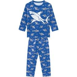 Pijama Manga Longa Kyly Bebê Masculino Tubarão Tam... - Nilza Baby Kids