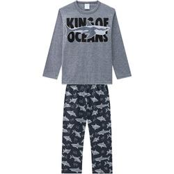 Pijama Manga Longa Kyly Infantil Masculino que Bri... - Nilza Baby Kids
