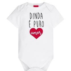 Body Kyly Bebê Unissex Dinda - 62782-D - Nilza Baby Kids