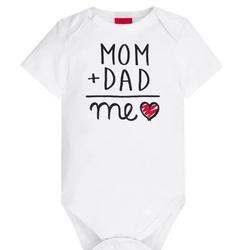 Body Kyly Bebê Unissex Mom + Dad - 62782-M - Nilza Baby Kids