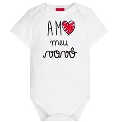 Body Kyly Bebê Unissex Vovô - 62782-V - Nilza Baby Kids