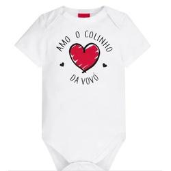 Body Kyly Bebê Unissex Vovó - 62782-Vó - Nilza Baby Kids
