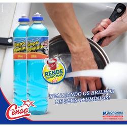 Detergente Limpa Aluminio Cenap 12x500ml Loja - 14... - NORONHA PRODUTOS QUÍMICOS